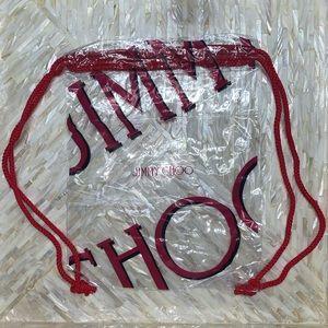 NEW Jimmy choo Clear backpack beach bag